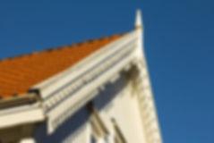 Møne av hus. Illustrasjonsfoto.