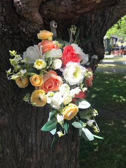 Silk cascade bridal bouquet