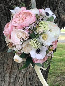 Blush and white silk bouquet