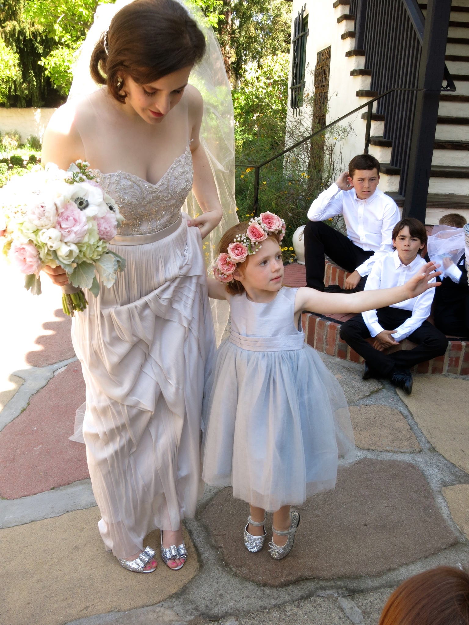 Ashley and flower girl Allied Arts
