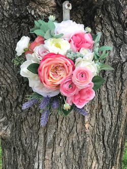 Silk bridal wedding bouquet