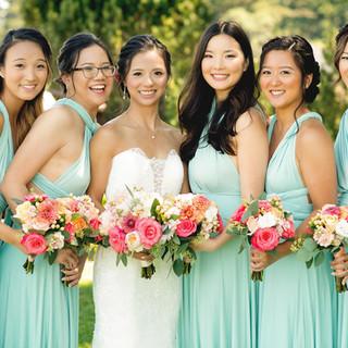 Lisa and Bridesmaids