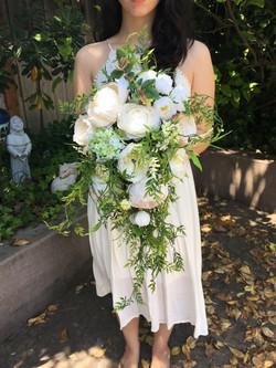 Cascade silk bridal bouquet