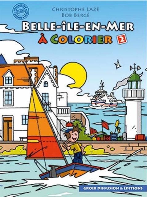Belle-île en mer à colorier 2