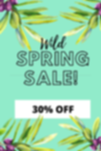 Cyan With Foliage Chic Spring Sale Pinte
