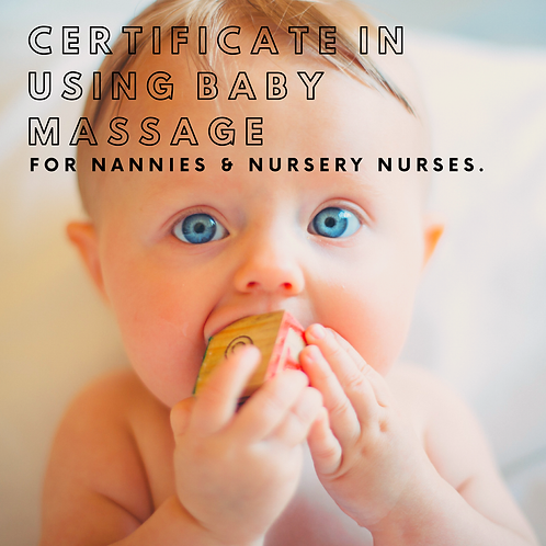 Certificate of using Baby Massage (for Nannies)