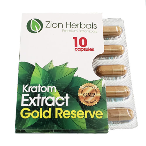 Kratom Extract Capsules Gold Reserve