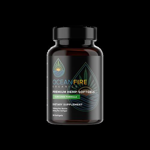 Oceanfire Organics | CBD Softgels + Curcumin