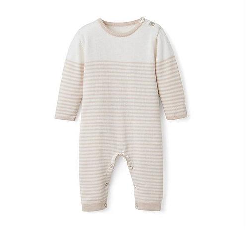 Wheat Stripe Jumpsuit