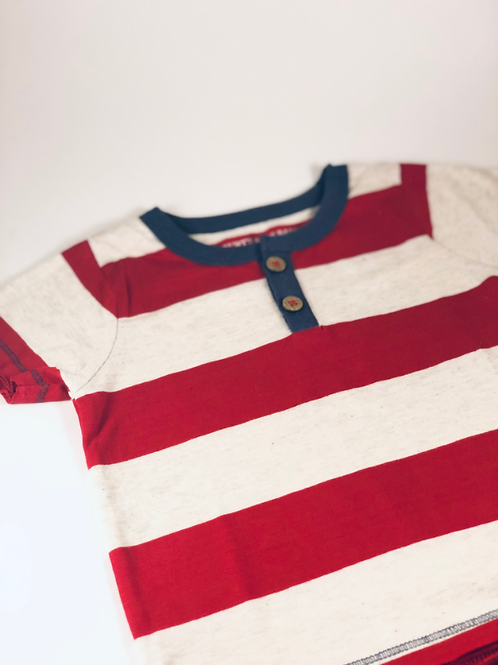 Rugby Stripe Henley Tee by Burt's Bees Baby