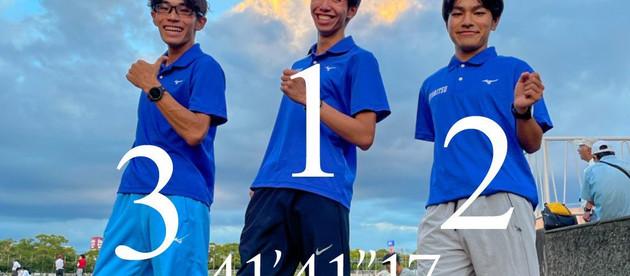九州インカレ2日目。男子10000mWにて九州学生新記録樹立!!