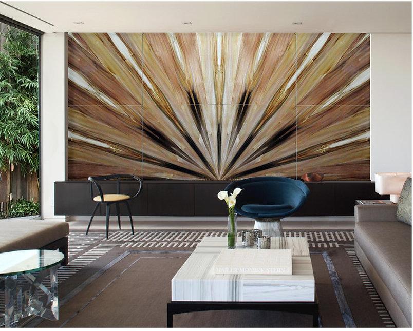vply premium wood veneer design feature wall panel in Tulip Purpleheart veneer