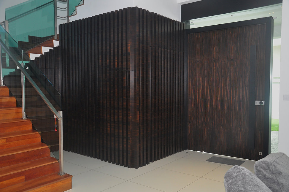 vply wood veneer wall design malaysia