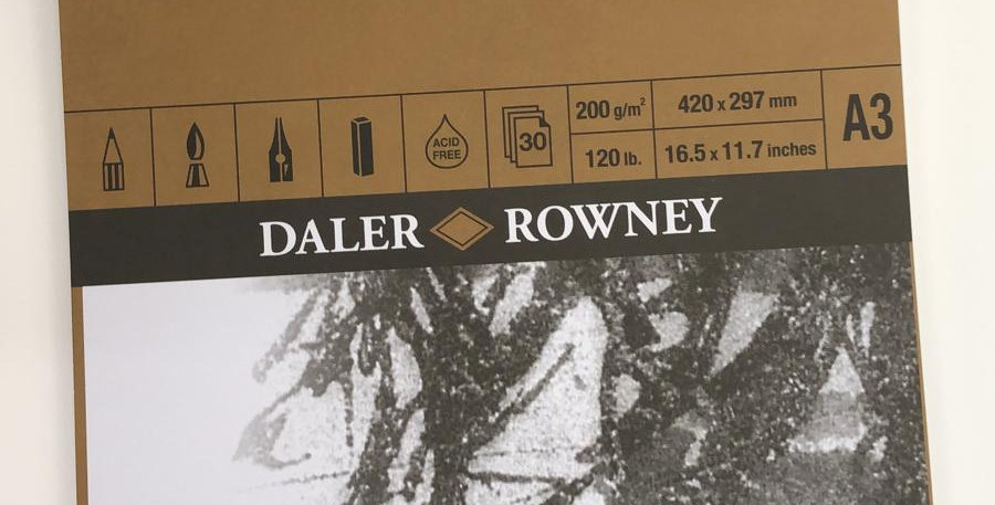 Daler Rowney: A3 Fine Grain Heavyweight pad