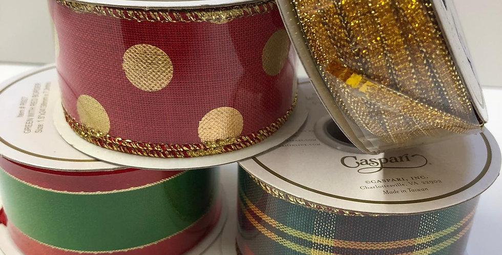 Caspari luxury wired ribbon