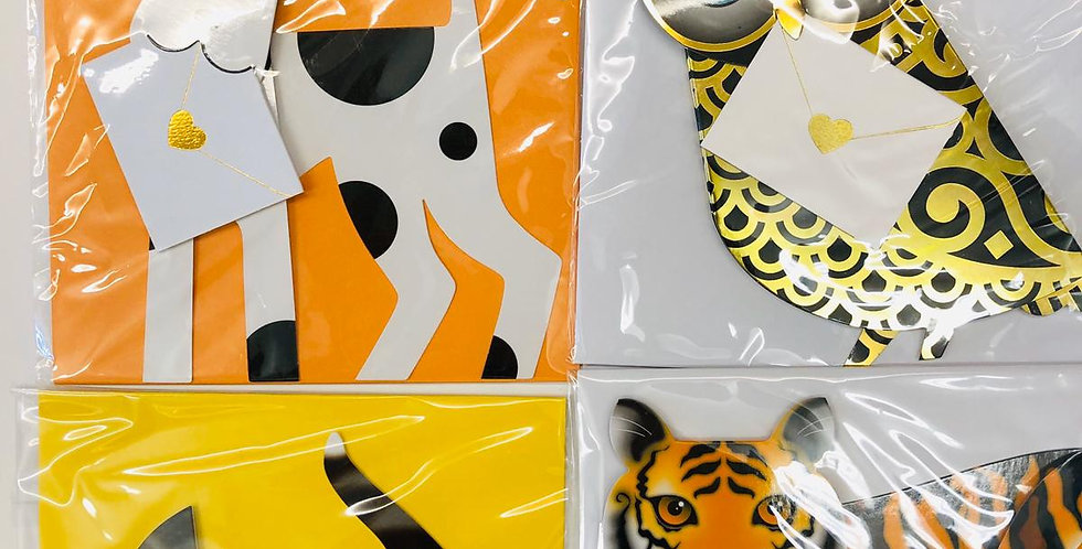 Special Delivery 3-D Cards Bundle of 4 Animals