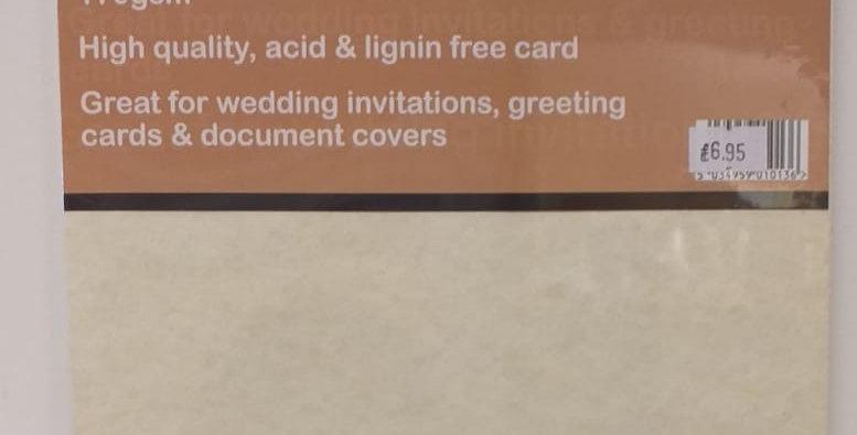 A4 beige parchment card 10 sheets