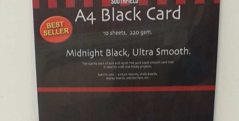 A4 black card 10 sheets