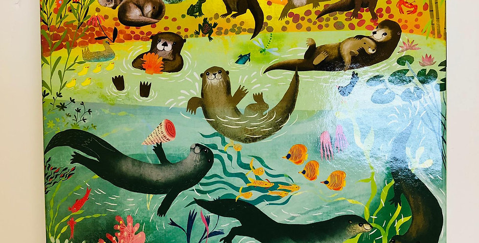 Eeboo: Otters At Play 64 piece