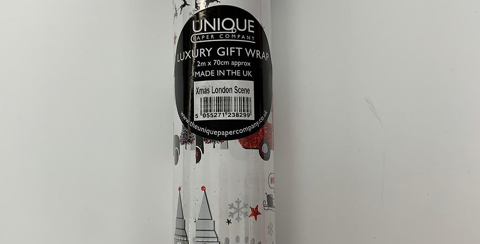 Luxury Gift Wrap London Theme 2m x 70cm