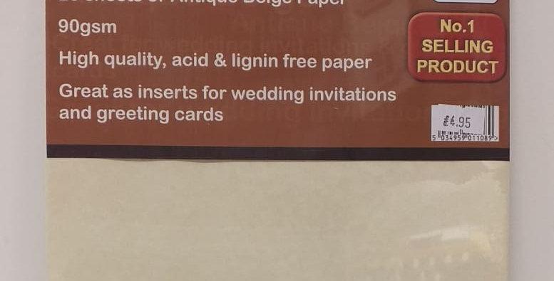 A4 beige parchment paper 24 sheets