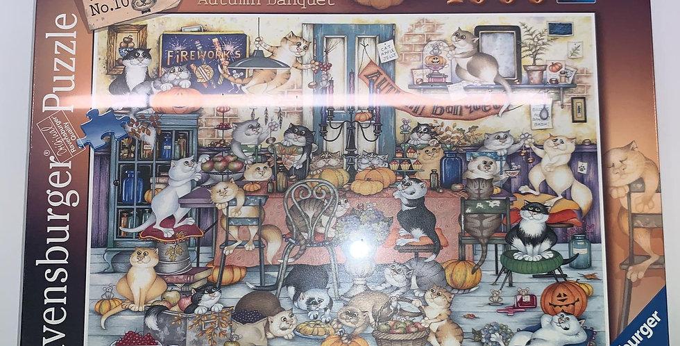Ravensburger: Crazy Cats... Autumn Banquet 1000 piece