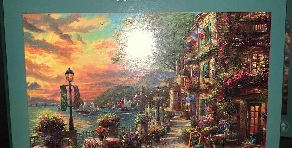 Thomas Kinkade: French  Riviera Cafe 1000 piece