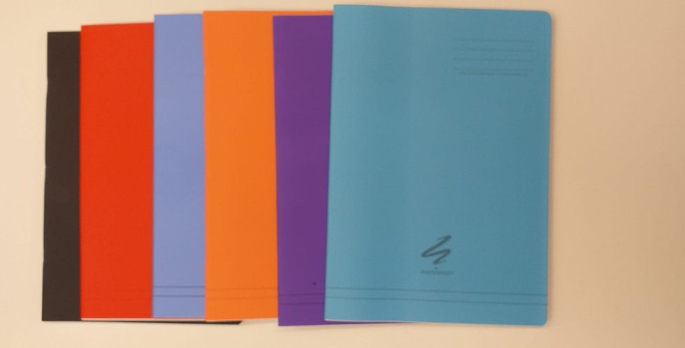A4 lined exercise books
