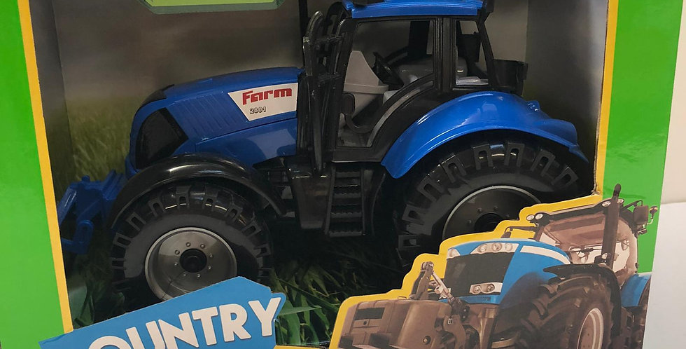 Country life: Blue Friction Tractor