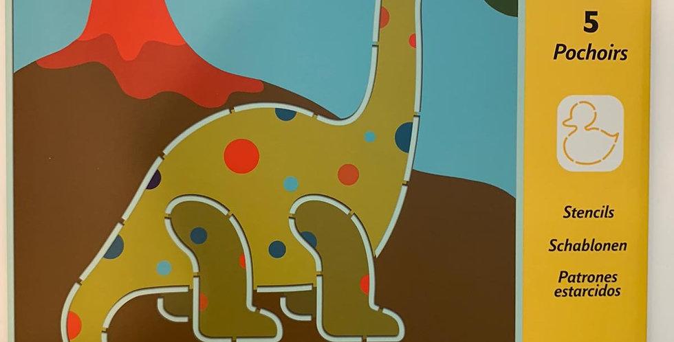 Djeco: 5 Pochoirs Stencils