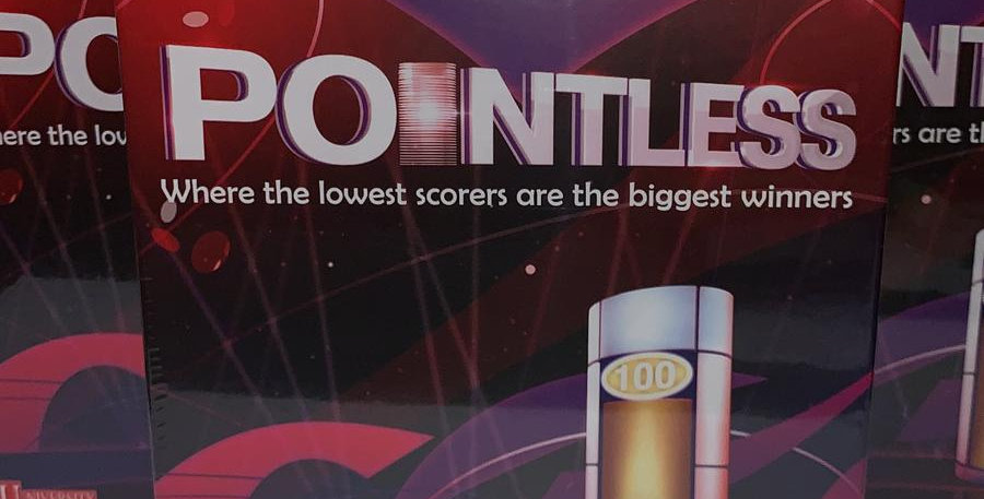 Pointless: Where thelowest scores are the biggest winners