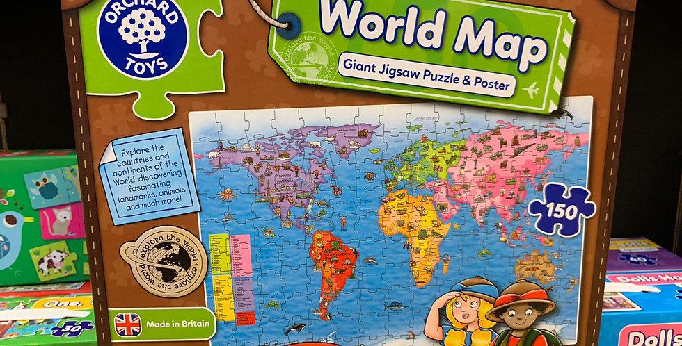 Orchard Toys: World map jigsaw