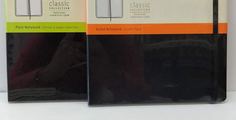 Moleskine Classic plain or ruled notebook 25x19cm