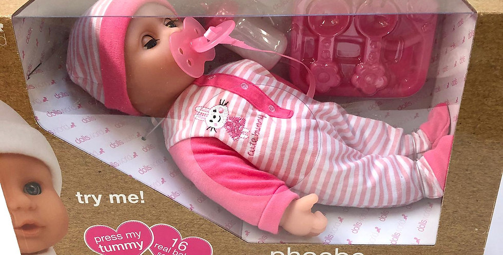 "Dolls World 12"" doll with sounds"