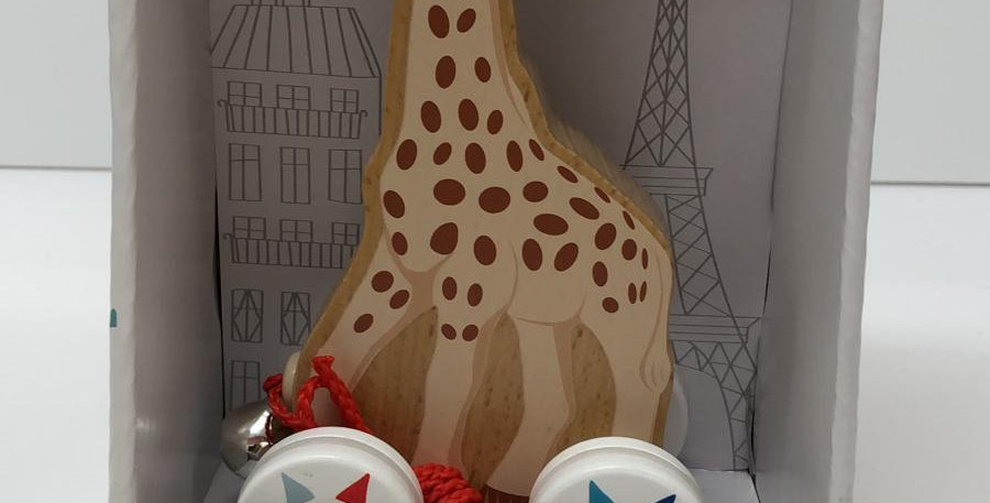 Janod: Pushalong Wooden Sophie Giraffe 12 months+