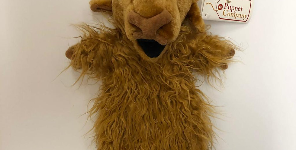 Puppet Company Highland Cow glove puppet