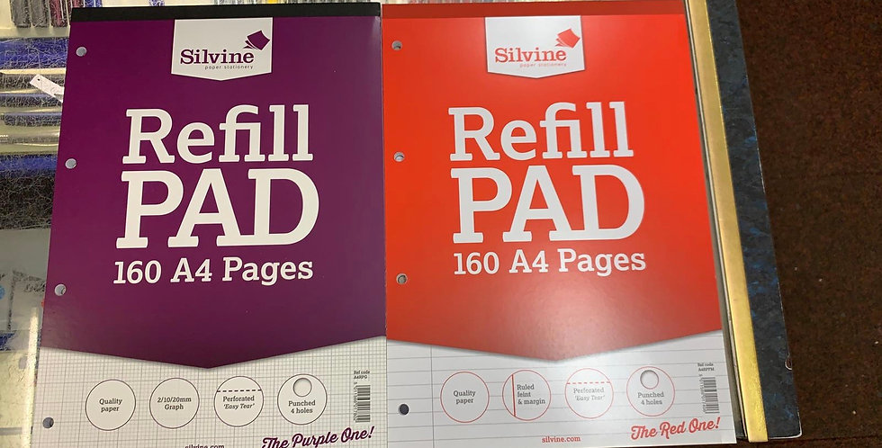 Silvine Refil Pad 160 A4 pages