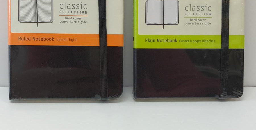 Moleskine Classic ruled or plain 14x9cm