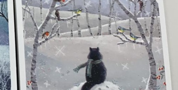 Museum & Galleries: Snowy Paws Pack of 20 Cards