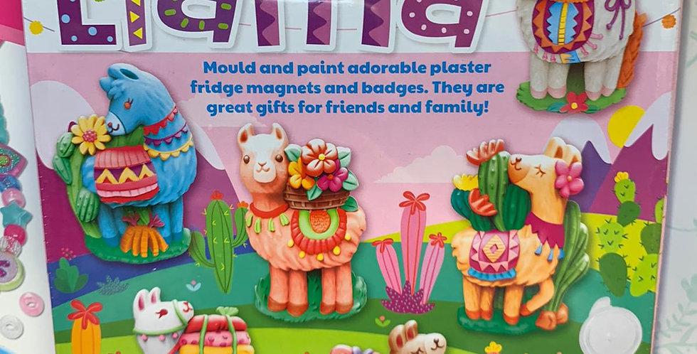 Mould and paint crafts: Llama