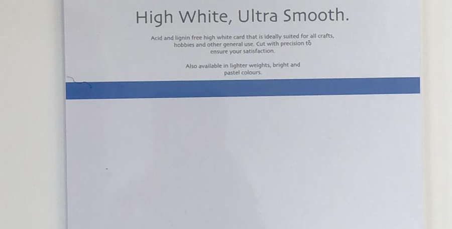 A5 thick white card 15 sheet pack