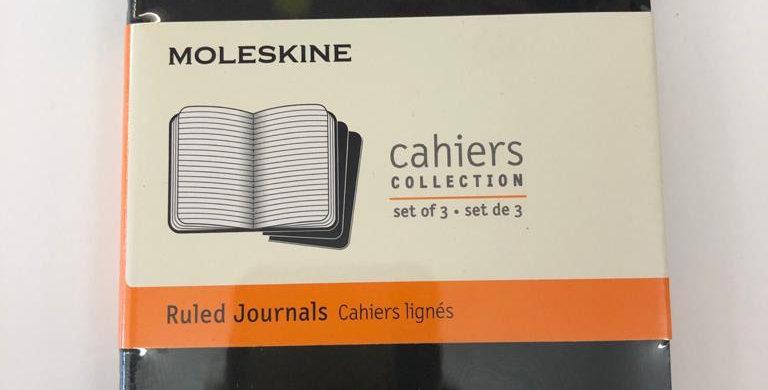 Moleskine set of 3 ruled journals 14x9cm