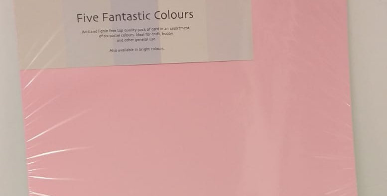 A3 assorted pastel card 30 sheets