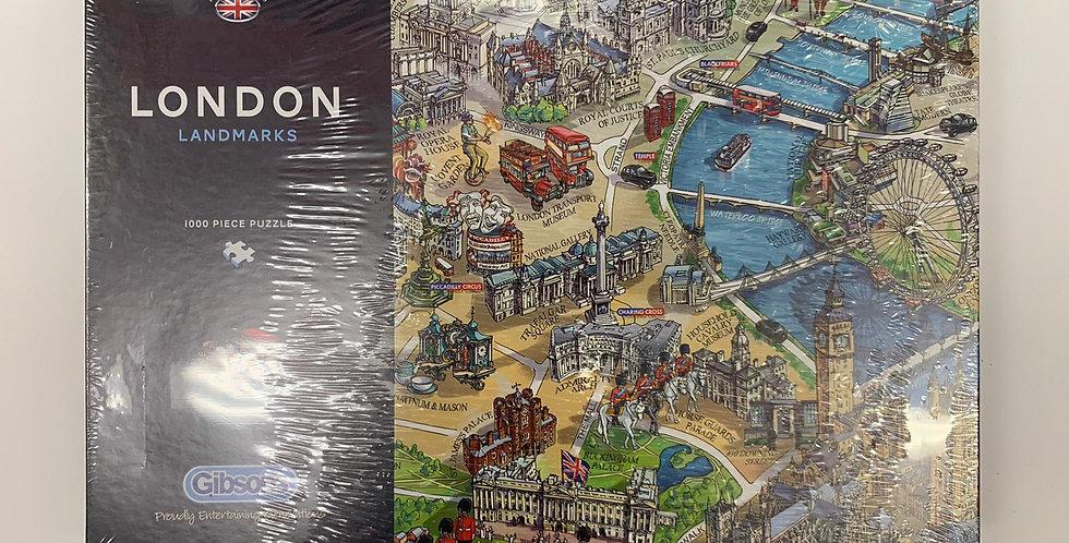 Gibsons: London Landmarks 1000 piece