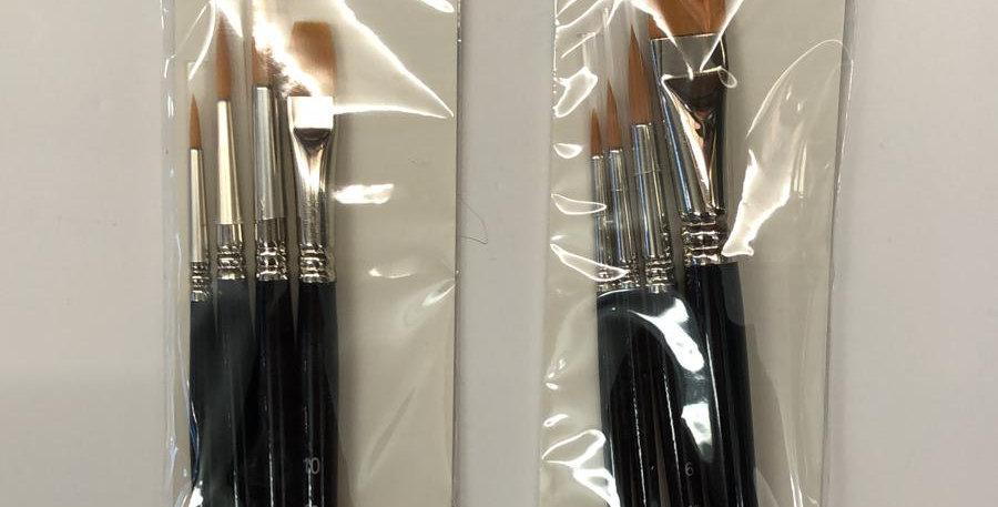 Seawhite: Golden Taklon brushes (for all paint types)