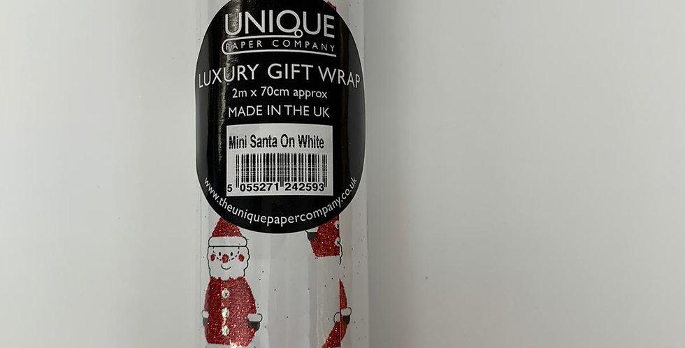 Luxury Gift Wrap Santa 2m x 70cm