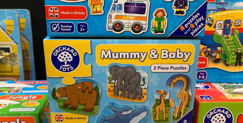 Orchard toys: Rescue squad, Mummy and baby, Animals 4 in a box