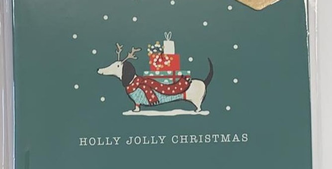 Holly Jolly Christmas Pack of 6 Cards