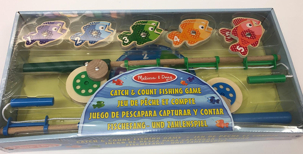 Melissa & Doug: Catch And Count Magnetic Fishing Game 3+