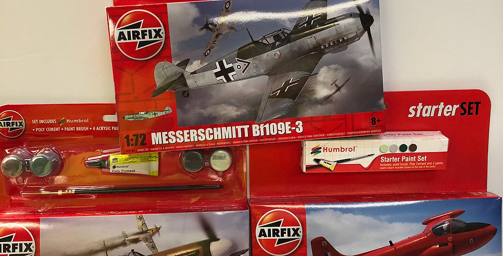 Airfix Kits with paints and glue included
